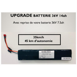 Upgrade Batterie 36V 7.5Ah vers 36V 14Ah