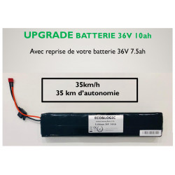 Upgrade Batterie 36V 7.5Ah vers 36V 10.5Ah
