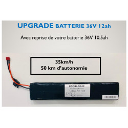 Upgrade Batterie 36V 10.5Ah vers 36V 12Ah