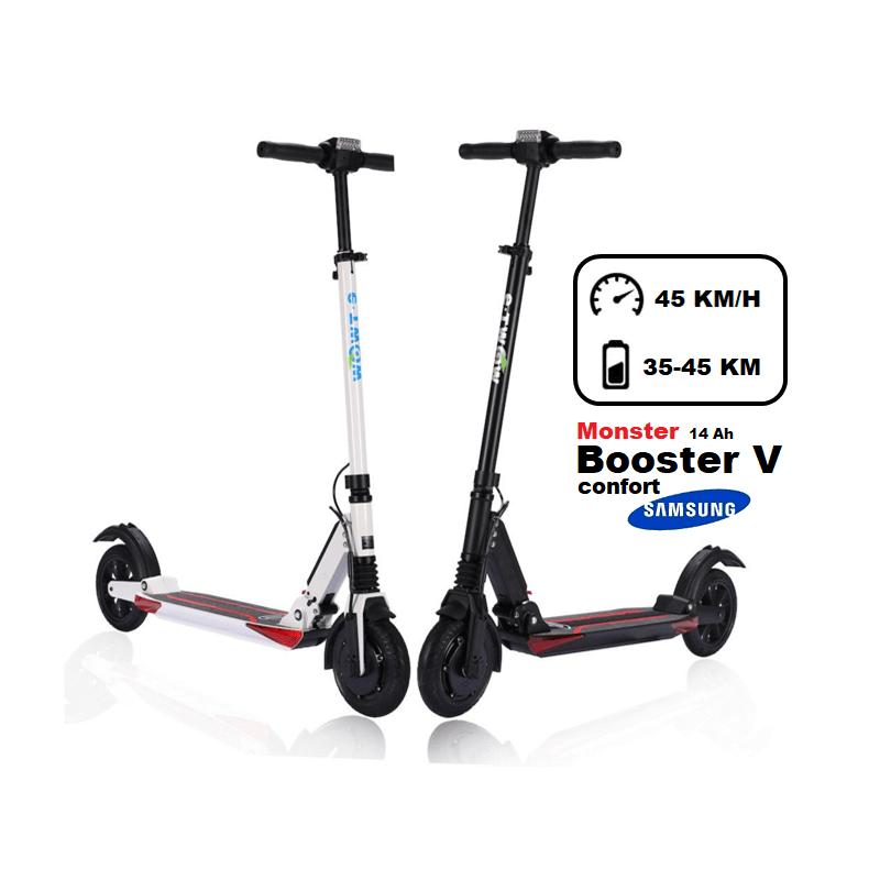 La trottinette électrique Monster Booster V CONFORT est le modèle le plus  puissant que vous trouverez sur le marché des trottinettes à moins de 11 kg. c09bdcc66db3
